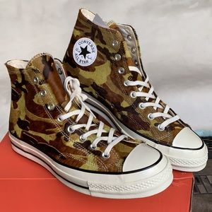 CONVERSE CHUCK 70 HI GREEN/BLACK/EGRET MEN'S